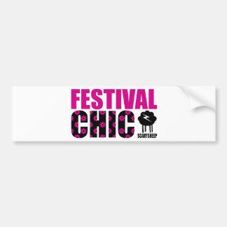 Moda del festival etiqueta de parachoque