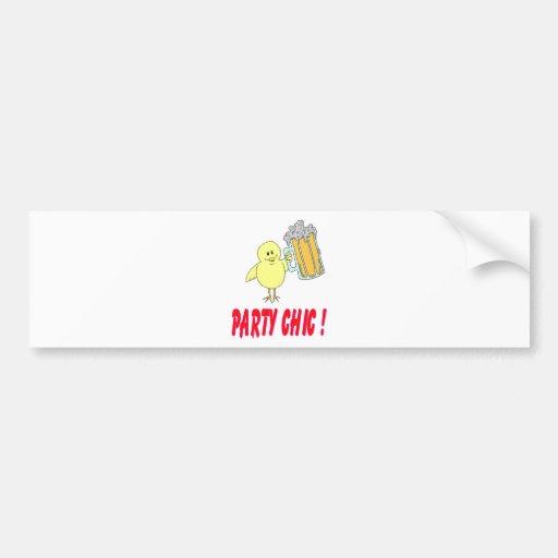 Moda del fiesta pegatina de parachoque