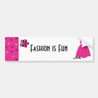 Moda del Fling de la primavera Etiqueta De Parachoque