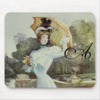 Moda del francés del Señora-Vintage del Victorian Alfombrilla De Ratón