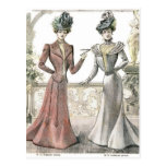 Moda del francés del Victorian Postales