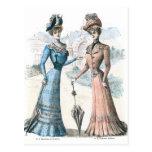 Moda del francés del Victorian Tarjetas Postales