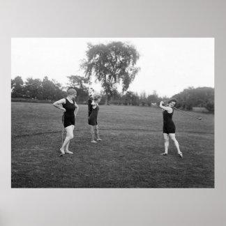 moda del golf de los años 20 impresiones