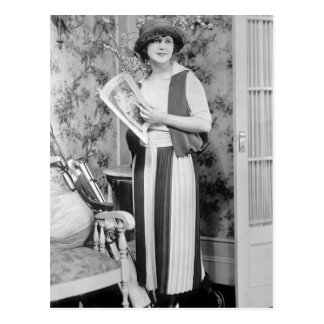 moda del golf de los años 20 postales
