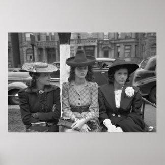 moda del gorra de Chicago de los años 40 Posters