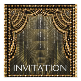 Moda del lujo del oro de la invitación
