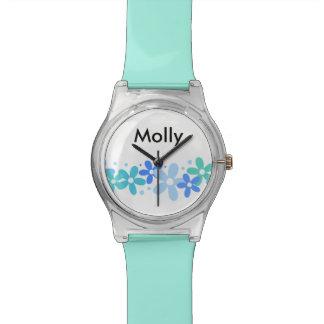 Moda del monograma de los chicas relojes de pulsera