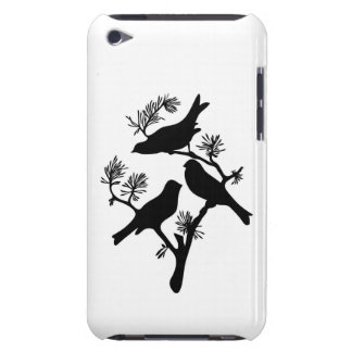 Moda del pájaro del amor de la silueta de la rama  Case-Mate iPod touch cárcasas