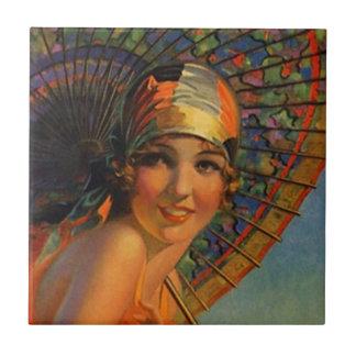 Moda del parasol de la bufanda del Cloche de la Azulejo Cuadrado Pequeño