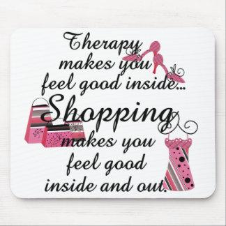 Moda del rosa de la terapia de las compras alfombrillas de ratón