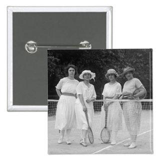 moda del tenis de los años 20 pin cuadrado