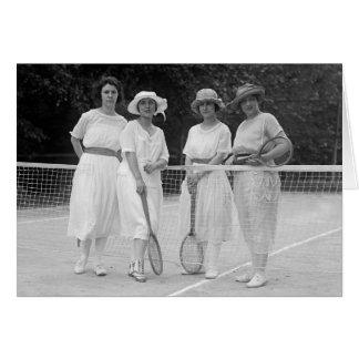 moda del tenis de los años 20 felicitacion