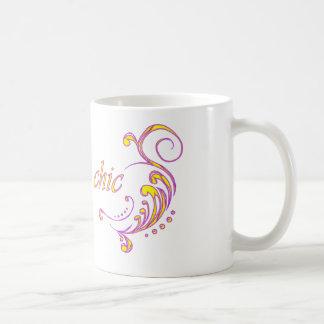 moda del vegano taza de café
