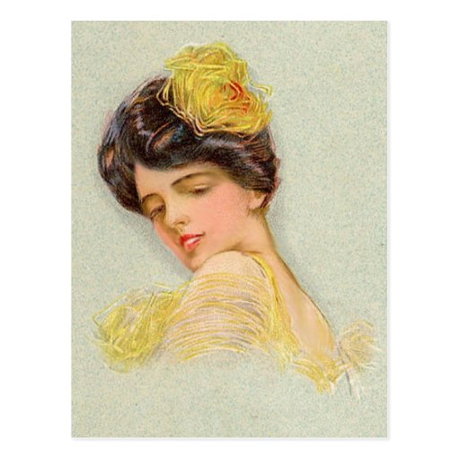 Moda del vintage (7) postal