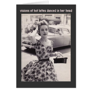 Moda del vintage con la tarjeta de cumpleaños del
