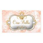 Moda del vintage de 311 de la crema del Ciao Bella Tarjeta De Visita
