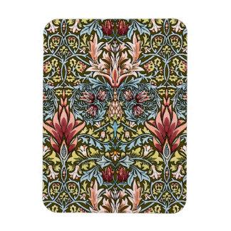 Moda del vintage del modelo del papel pintado flor rectangle magnet