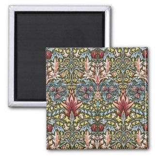 Moda del vintage del modelo del papel pintado flor imán cuadrado