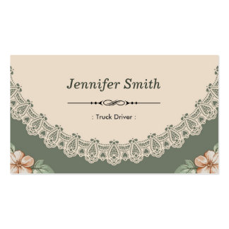 Moda del vintage floral plantillas de tarjetas personales