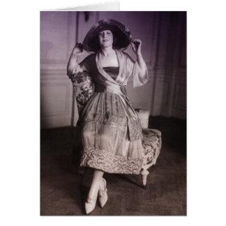 Moda del vintage tarjeta de felicitación