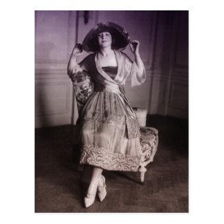 Moda del vintage postales