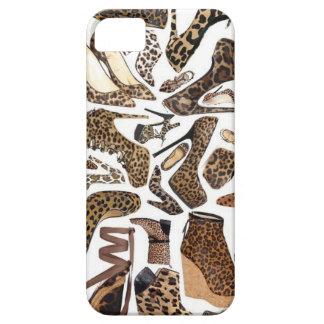 Moda del zapato del leopardo iPhone 5 Case-Mate fundas