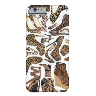 Moda del zapato del leopardo funda barely there iPhone 6