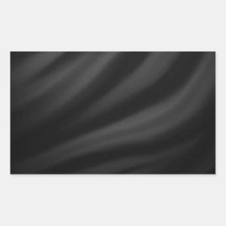 Moda elegante de la materia textil de seda negra pegatina rectangular