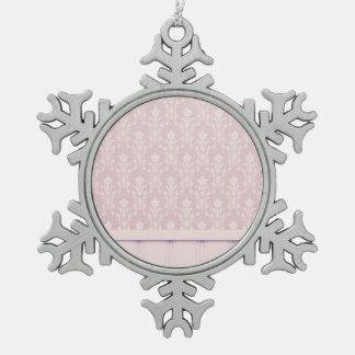 moda elegante de madera del papel pintado del adorno de peltre en forma de copo de nieve