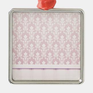 moda elegante de madera del papel pintado del adorno cuadrado plateado