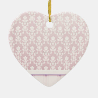 moda elegante de madera del papel pintado del adorno de cerámica en forma de corazón