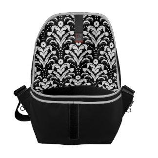 Moda elegante del damasco del art déco de la mujer bolsa de mensajeria