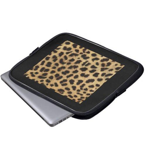 Moda elegante del estampado leopardo fundas portátiles