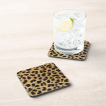 Moda elegante del estampado leopardo posavasos de bebida