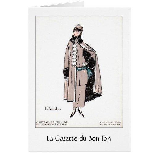 Moda elegante del francés, tarjeta de felicitación