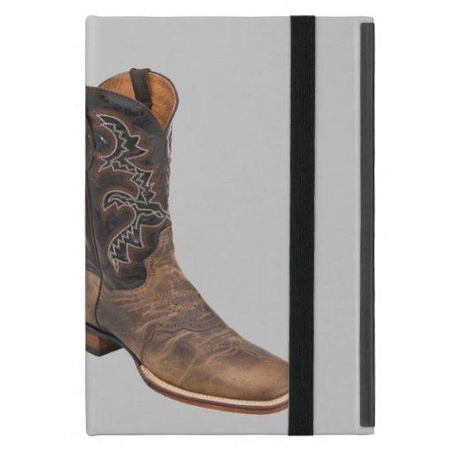 Moda elegante del país occidental de las botas de  iPad mini protector