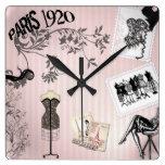 Moda elegante del vintage de París Relojes