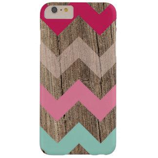 Moda en colores pastel de madera del modelo de funda de iPhone 6 plus barely there