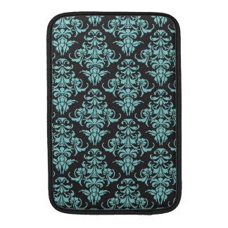 Moda femenina azul del papel pintado del vintage d fundas macbook air
