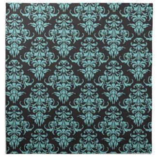 Moda femenina azul del papel pintado del vintage d servilleta imprimida