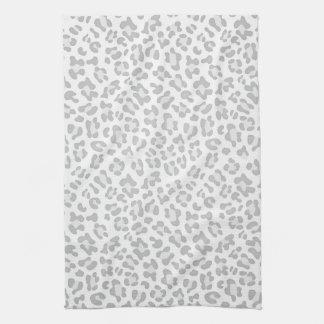Moda femenina de la plata del estampado de animale toalla de mano