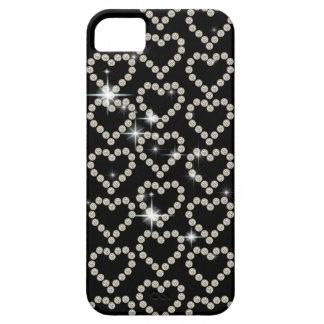Moda femenina del corazón del diamante iPhone 5 Case-Mate carcasas