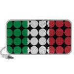 Moda femenina elegante de Italia: Bandera del ital iPod Altavoz