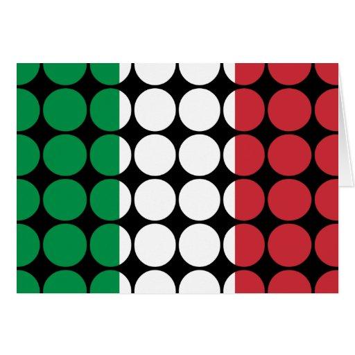 Moda femenina elegante de Italia: Bandera del ital Tarjeton