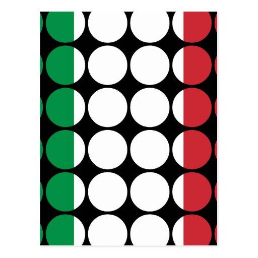 Moda femenina elegante de Italia: Bandera del ital Tarjetas Postales