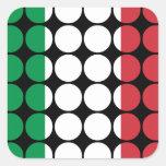 Moda femenina elegante de Italia: Bandera del Calcomanía Cuadradase