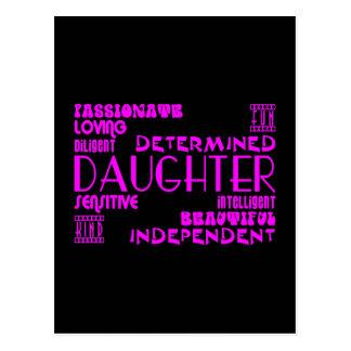 Moda femenina moderna y hijas elegantes tarjeta postal