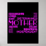 Moda femenina moderna y mamáes y madres elegantes posters