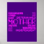Moda femenina moderna y mamáes y madres elegantes poster