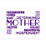 Moda femenina moderna y mamáes y madres elegantes tarjetas postales